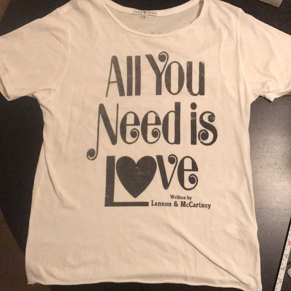 26e4f84a7 Junk Food Clothing Tops | Junk Food Beatles Tshirt All You Need Is ...